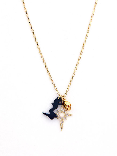 Box Chain Pin Up Necklace