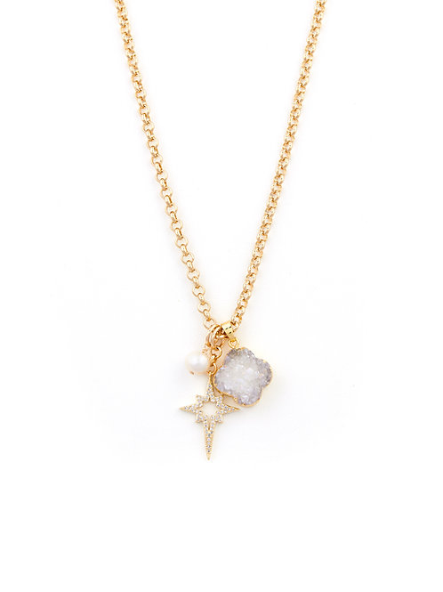 Multi Charm Belcher Necklace