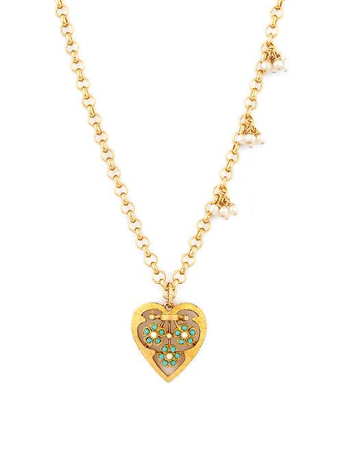 Vintage Heart & Pearl Clusters