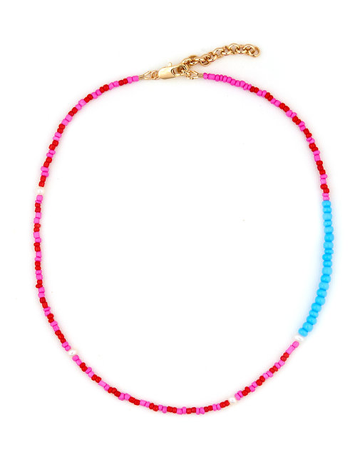 Bright Pink & Red with Turquoise side