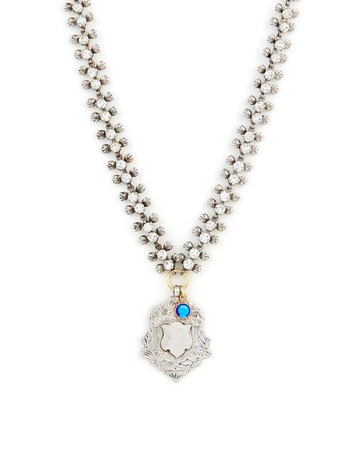 Silver Shield & Antique Chain