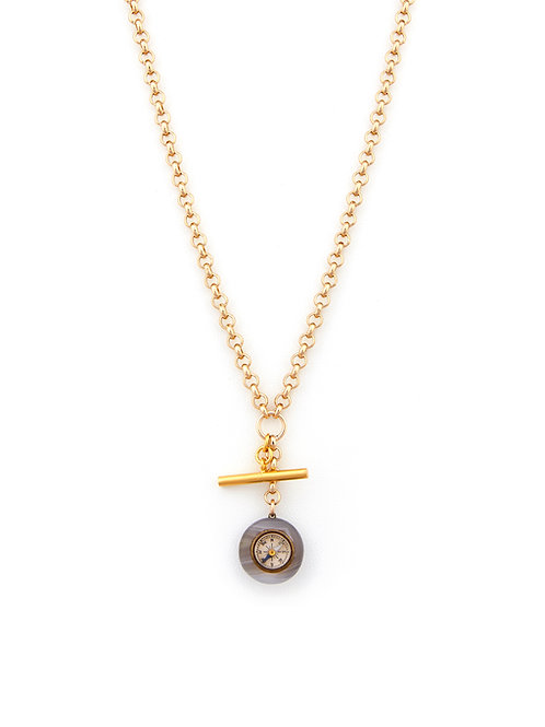 Victorian Agate Compass & TBar