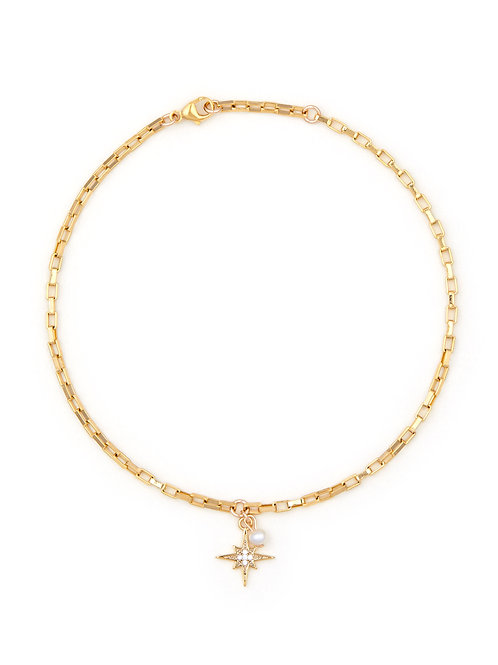 Anklet - Moon & Star