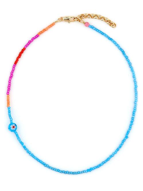 Turquoise Millefiori Bead