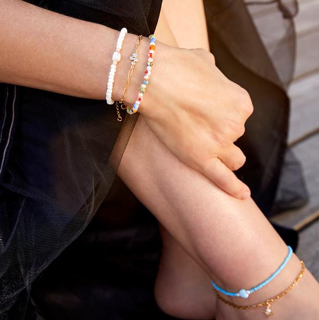 Bead Bracelets/Anklets