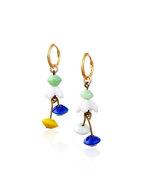 Art Deco Glass Petal Drops