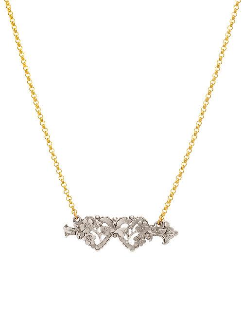 Victorian Silver Sweetheart Heart & Arrow
