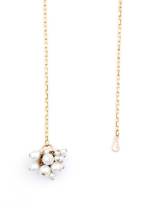 Pearl Cluster Wrap Necklace
