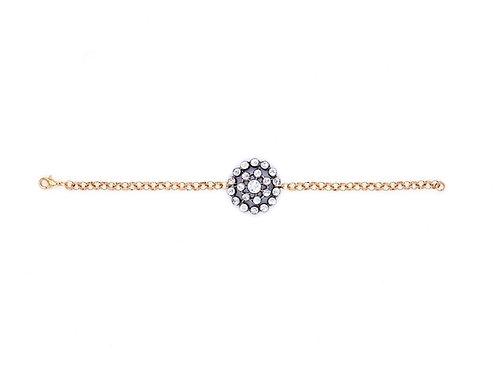 Edwardian Rhinestone Cluster Bracelet