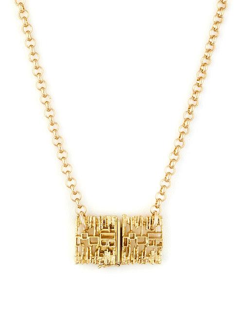 Vintage Modernist Clasp Necklace