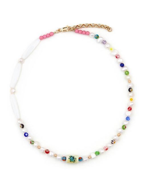 Vintage Limoge & Pearl Beads