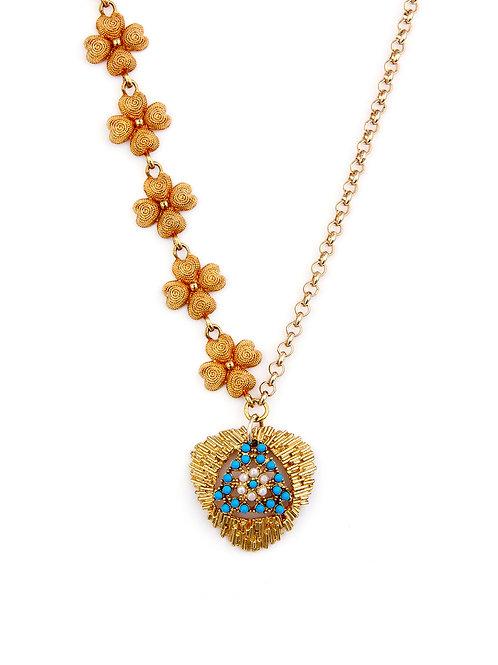 Split Vintage Medallion Necklace