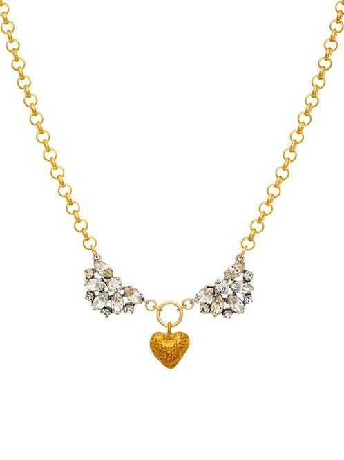 Heart & Crystal Angel Wings