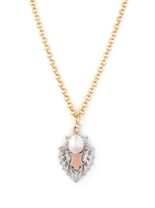 Victorian Silver Shield & Pearl