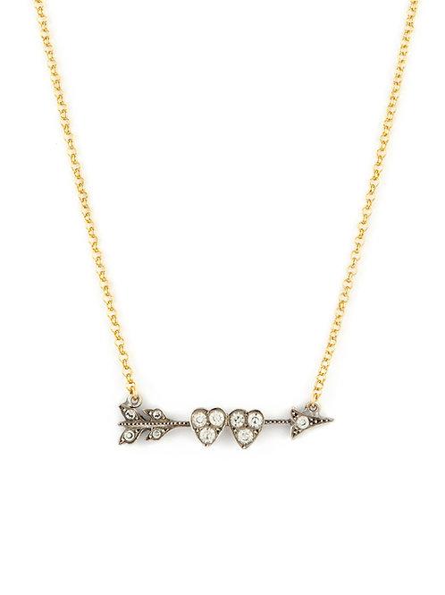 Victorian Arrow & Heart Sweetheart Pin
