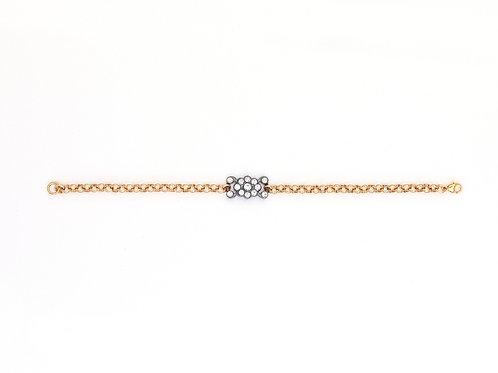Edwardian Flower Cluster Bracelet