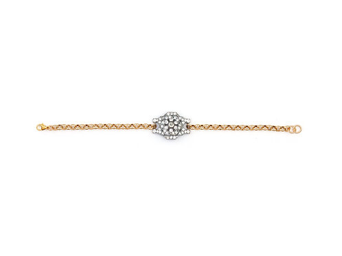 Edwardian Raised Cluster Bracelet