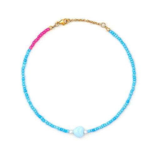 Vintage Blue Love Heart Bracelet & Anklet