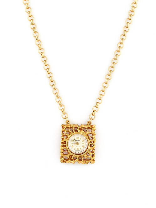 Vintage Interlacing Swiss Watch Necklace