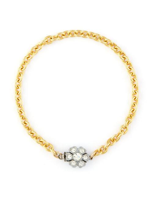 Antique Daisy Cluster Clasp Bracelet