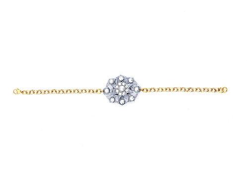Edwardian Rhinestone & Pearl Bracelet