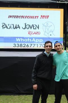 P. Facundo Ivaldi y Gino Collazuol