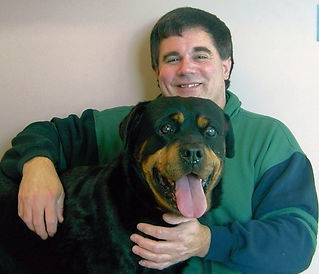 Dog Trainer Jeff Salter and Rocky - Rocky Junior's Dog Training Service Puyallup WA