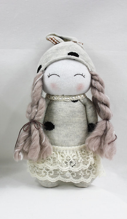 Lavender Doll in Lace Skirt