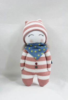 Lavender Doll with Scarf