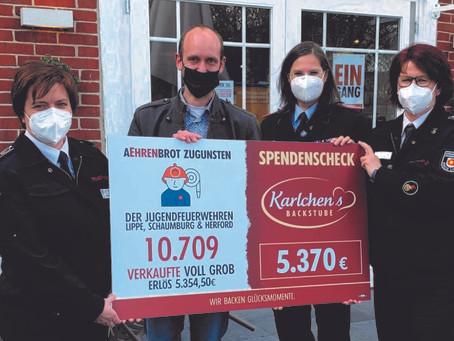Spendenübergabe: 1790 € von Karlchen's