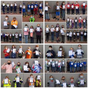 95 Kids freuen sich über den Brandfloh