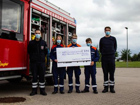 Hohe Spendensumme: Jugendfeuerwehr sammelt für Hochwassergebiete
