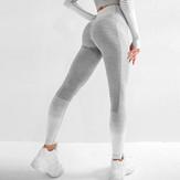 Full Length Legging - Gray/White