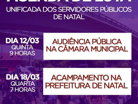 AGENDA DE LUTA UNIFICADA DOS SERVIDORES PÚBLICOS DE NATAL APROVADA EM ASSEMBLEIA