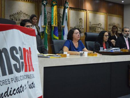 Audiência pública discute cumprimento da sentença judicial do Plano Geral, Prefeito não comparece!