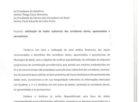 NATALPREV CONTINUA SEM REPASSAR INFORMAÇÕES REQUERIDAS PELO SINSENAT E PELA CÂMARA MUNICIPAL