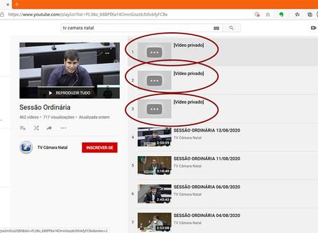 ABSURDO! CÂMARA MUNICIPAL TIRA DO AR VÍDEO DA SESSÃO QUE APROVOU A REFORMA DA PREVIDÊNCIA DE ÁLVARO