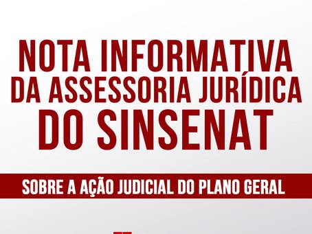 NOTA INFORMATIVA DA ASSESSORIA JURÍDICA DO SINSENAT