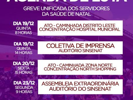 NOTA AOS SERVIDORES MUNICIPAIS DA SAÚDE EM GREVE UNIFICADA