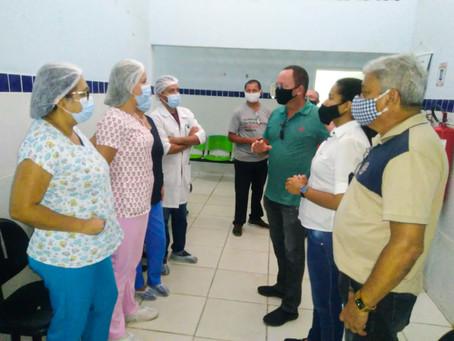 DIRETORIA DO SINSENAT VISITA UNIDADE DE SAÚDE DE NOVA NATAL