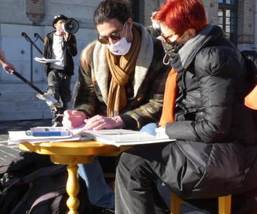 Ecriture avec des écrivains publics