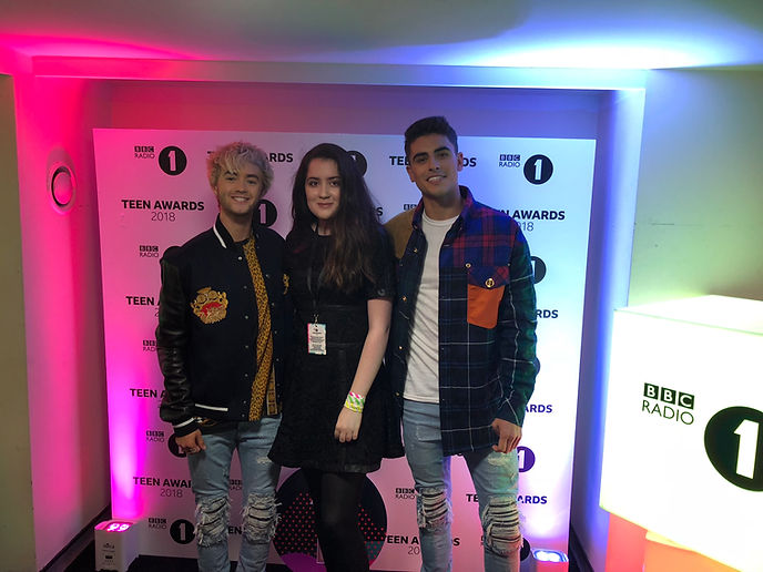 Siena with Jack & Jack at the Teen Awards 2018
