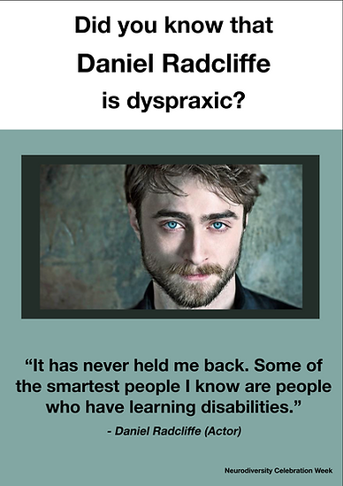 Daniel Radcliffe Dyspraxia Poster