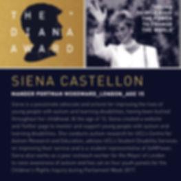 Siena Castellon - Diana Award