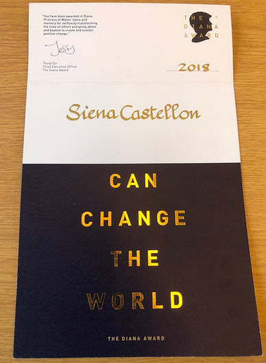 Siena Castellon - The Diana Award