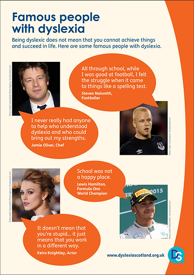 Dyslexia: Famous People
