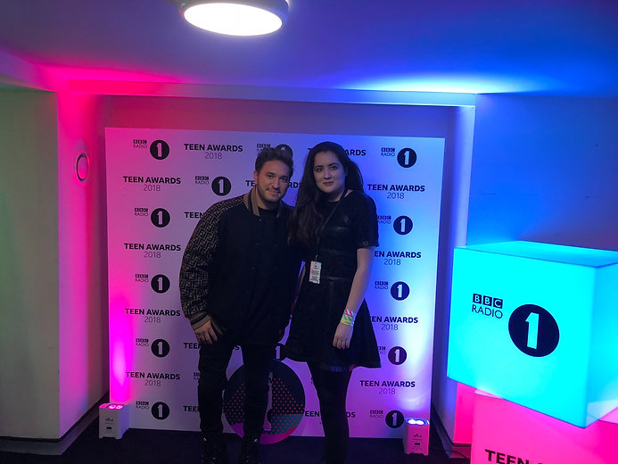 Siena Castellon & Jona Blue at the Teen Awards