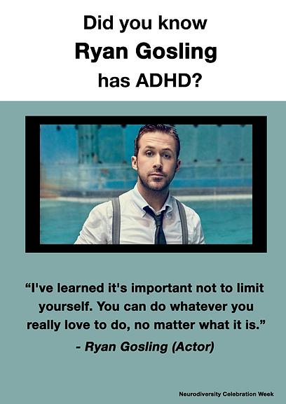 Ryan Gosling - ADHD Poster