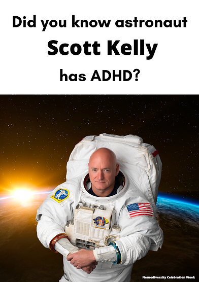 Scott Kelly ADHD Poster