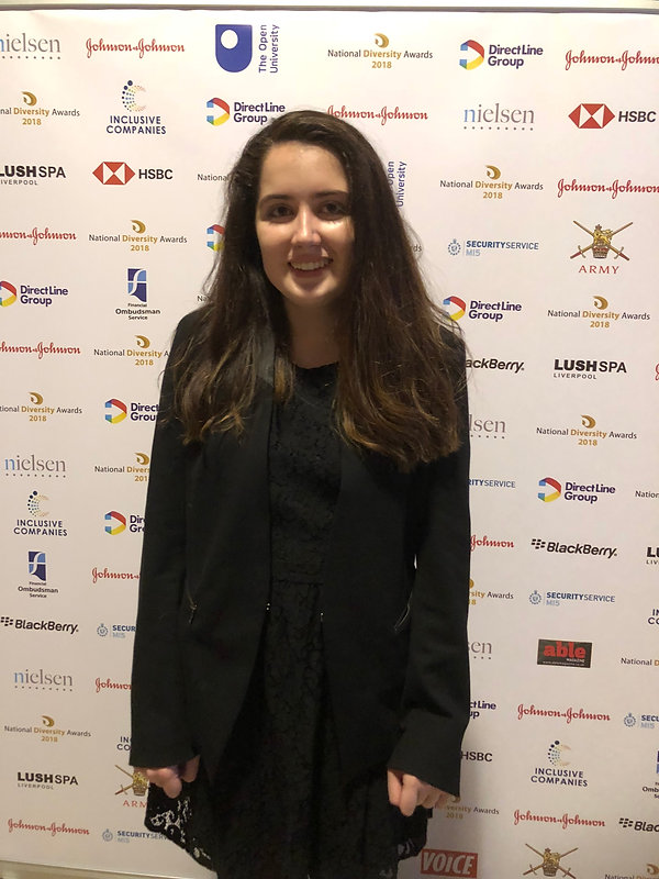 Siena Castellon at the National Diversity Awards in Liverpool